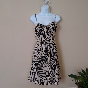 Billabong tan / black palm print sundress